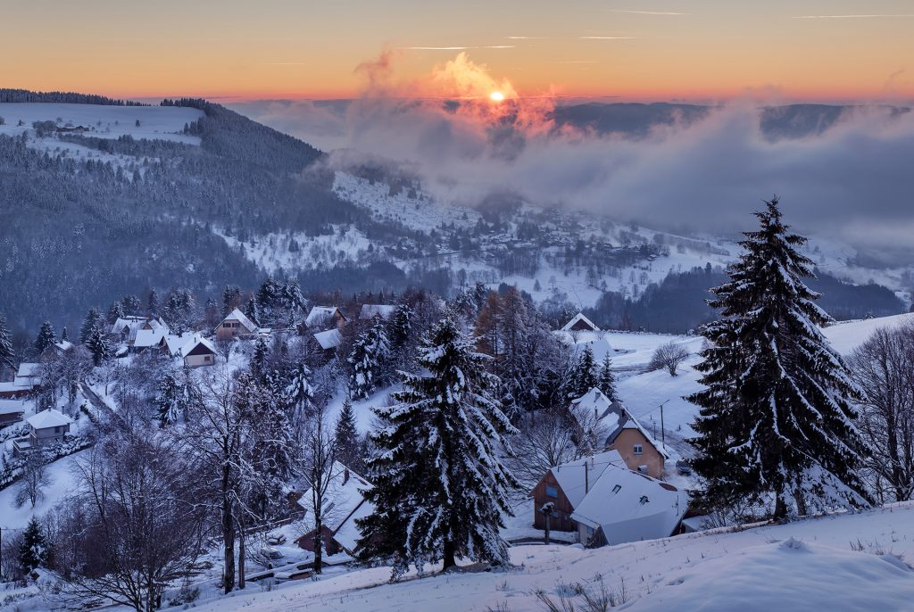 Champ du feu village hiver
